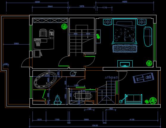 290平米联排别墅装修设计图纸