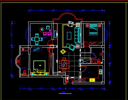 108平方米三层别墅装修设计图纸