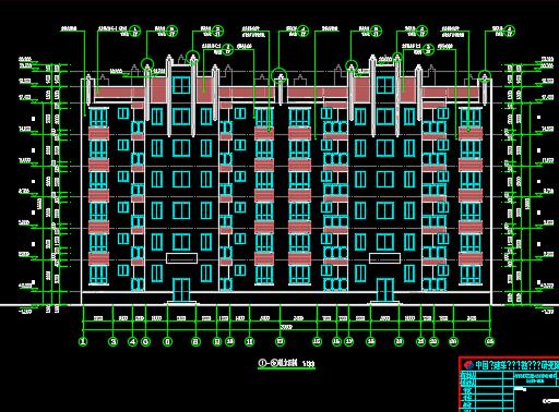 六层安置房建筑施工图纸