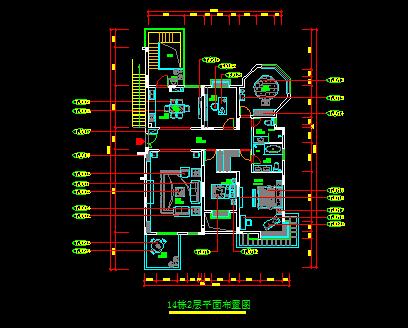 240平方米二层田园别墅装修设计图
