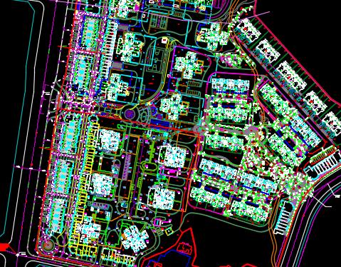 某城市广场景观工程施工图纸