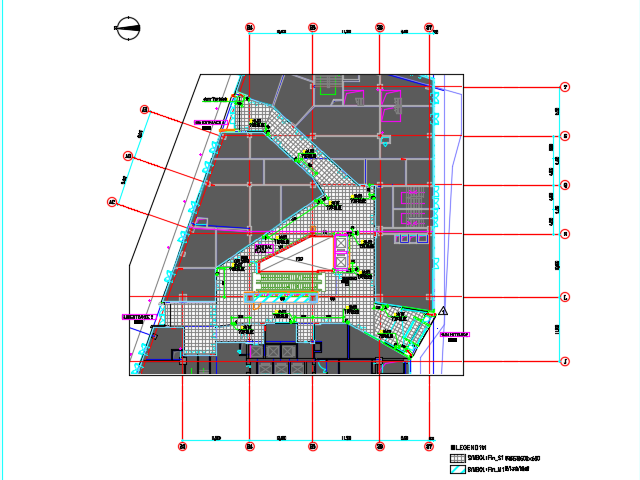 商场大堂公共空间装修施工图