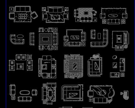 CAD家具图块
