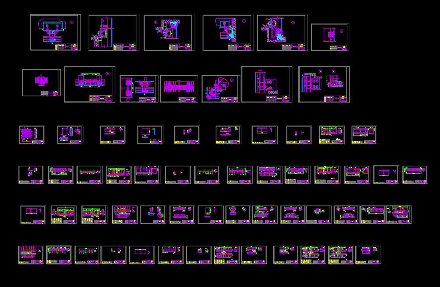 180隐框幕墙工艺节点设计CAD图