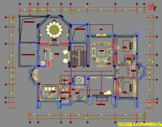 667平米三层别墅装修施工图纸