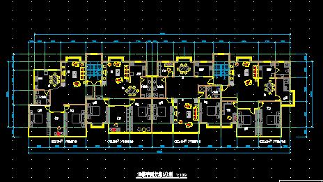 一层砖混结构综合用房建筑装修设计平面图