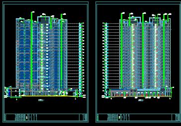 二十四层住宅楼建筑施工图纸