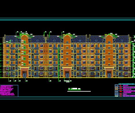 某商业居住小区全套设计图纸(含建筑结构、水电暖)