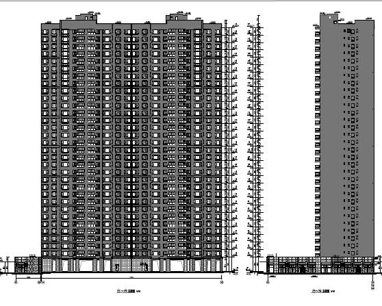 超高层17栋住宅楼全套施工图纸(含建筑结构水电暖)PDF版