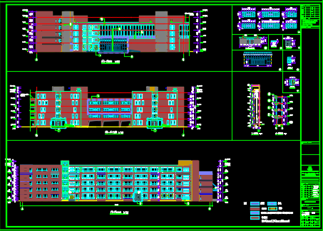 五层办公楼全套施工图纸(含建筑结构、装饰、水电暖)