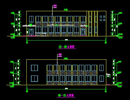 某公用两层餐厅建筑施工图纸
