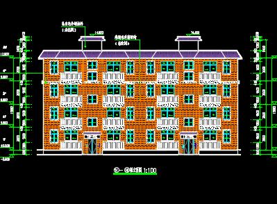 砖混住宅楼建筑施工图纸