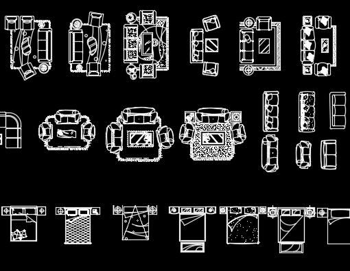 CAD家装常用图块图库