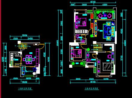 122平米住宅装修设计图纸