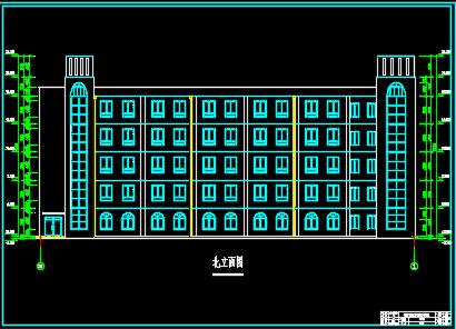 五层框架结构教学实验楼建筑施工图纸