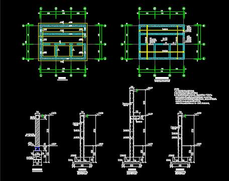 训练场结构施工图纸