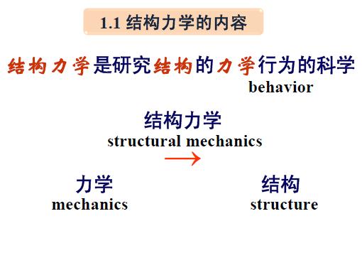 结构力学的特点及学习方法