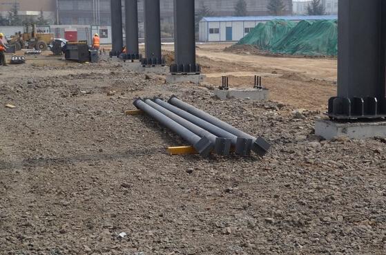 钢结构厂房的现场图片