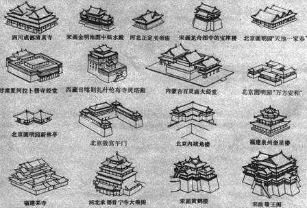 ps古建屋顶平面素材