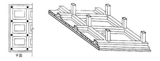 片筏基础有平板式和梁板式两种.图片