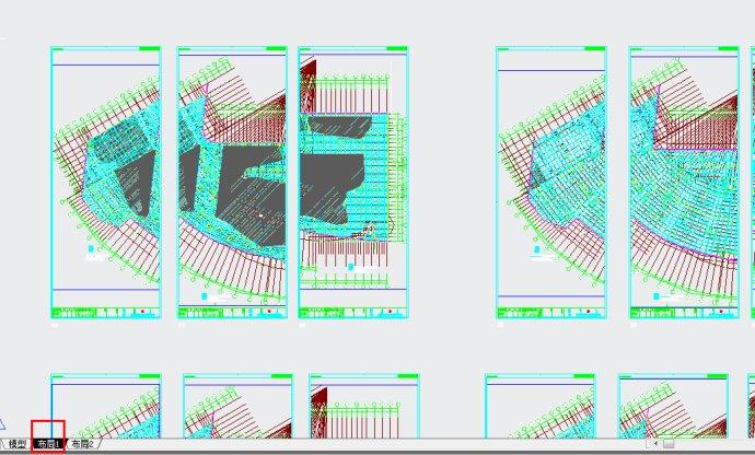 修改CAD颜色的布局,不要白色cad段线怎么一个画上圆多在图片