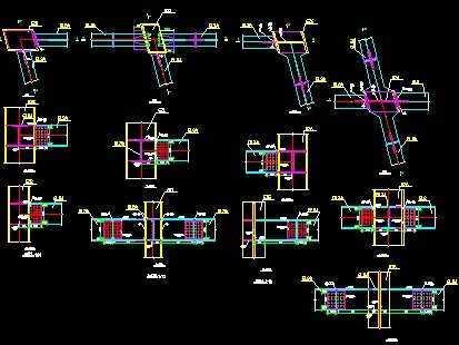 博物馆钢结构节点图
