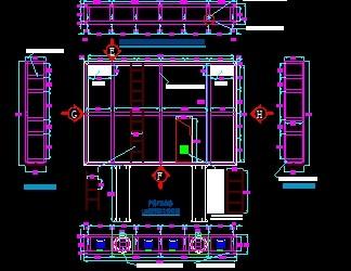led显示屏幕钢结构施工图