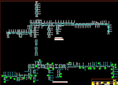 某棉纺厂室外综合管架施工图