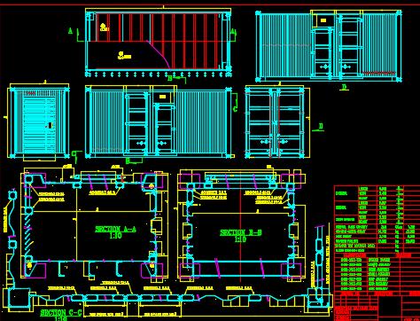 标准集装箱结构尺寸详图