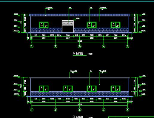 8×25米钢结构库房设计图纸