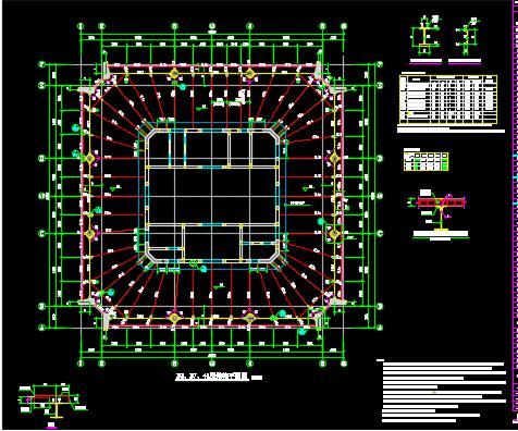 64层框架核心筒超高层大厦结构施工图纸(含PDF格式)