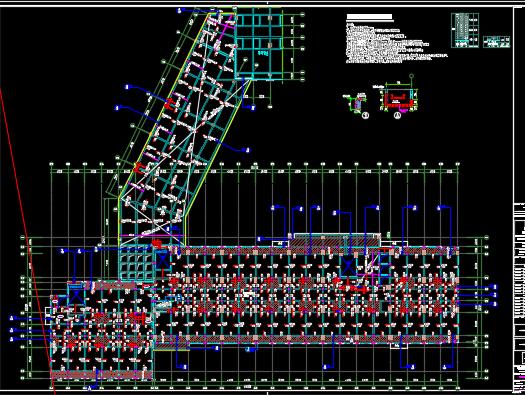 十二层宿舍楼结构施工图纸
