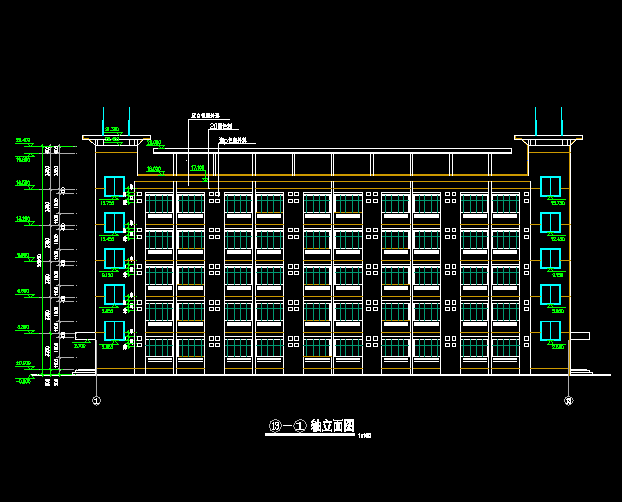 五层框架结构中学宿舍楼毕业设计