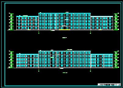 五层框架结构教学楼毕业设计(含建筑图 结构图 计算书)
