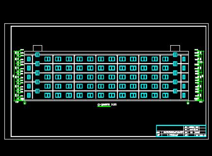 5000平米5层框架结构教师公寓楼毕业设计