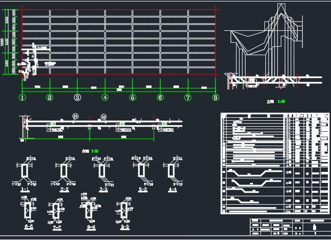 混凝土结构厂房课程设计(含图纸)