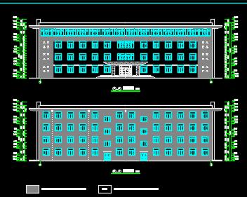 四层钢筋框架结构厂房办公楼建筑施工图纸