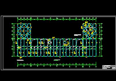 五层框架结构教学楼结构设计图纸