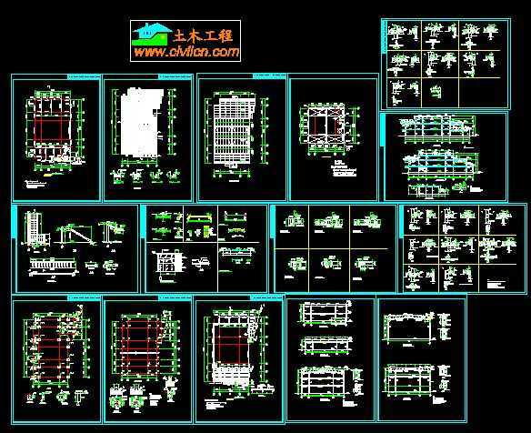 钢结构售楼部结构设计图