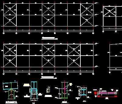 煤泥烘干车间 钢结构图纸免费下载 - 厂房结构 - 土木