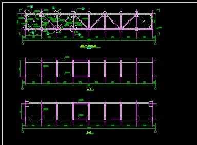 厂区管桁架施工图纸免费下载 - 厂房结构 - 土木工程网