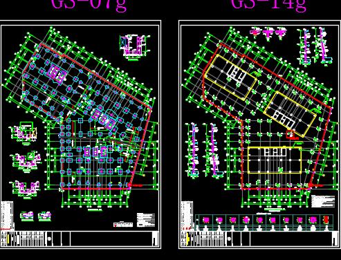 厂区地下室结构施工图纸