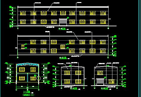 某二层塑料厂房建筑施工图