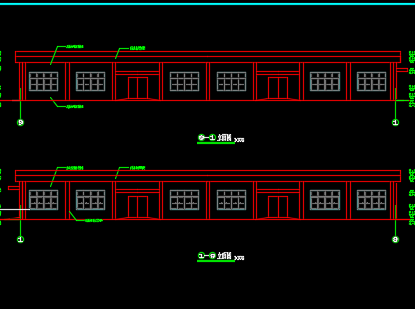 20米单跨砼柱钢屋架结构厂房施工图纸