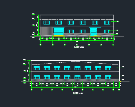 门式刚架带夹层结构二层厂房建筑结构施工图纸