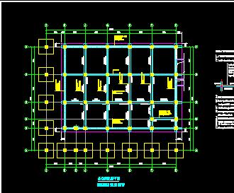 5层钢架结构厂房结构施工图纸