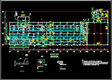 某地2层联合厂房框架结构施工图纸