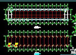 二层框架结构车间结构施工图纸