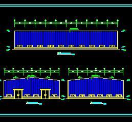 60×32钢结构厂房建筑结构施工图纸