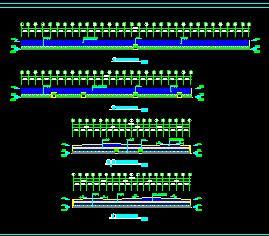 两个230x90米钢结构厂房建筑结构施工图纸